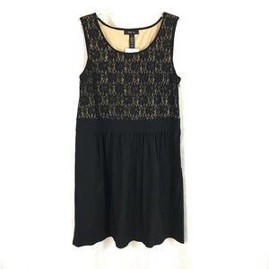 NWT Style & Co Black Lace Sleeveless Midi Dress 16